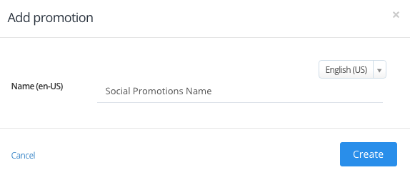 Add Social Promotions