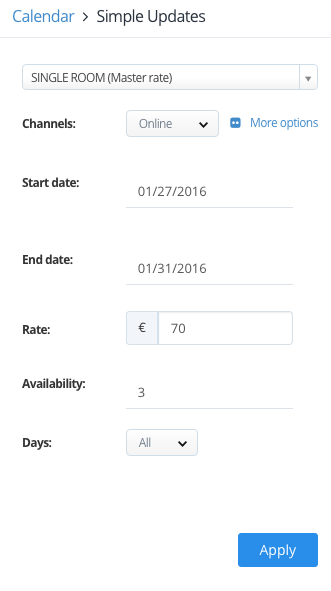 Rate-Availability Update